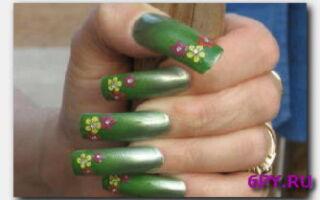 Статья. Зелёные ногти: как сделать красивый маникюр