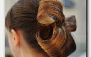 Статья. Учимся укладывать бант из волос