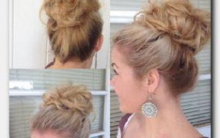 Статья. Причёска с бубликом: как сделать пучок быстро и красиво