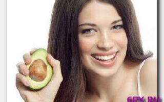 Статья. Маска для волос из авокадо в помощь при тусклой и сухой шевелюре