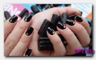 Статья. Маникюр с черным лаком: модно, стильно, элегантно!