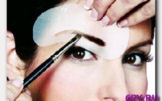 Статья. Учимся правильно красить брови карандашом, тенями, косметической краской