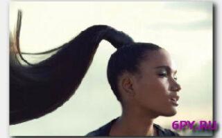 Накладной хвост из натуральных волос