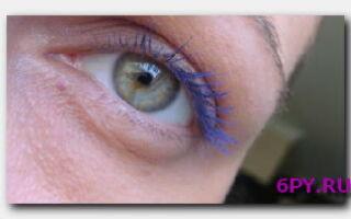 Статья. Синяя тушь для ресниц: секреты оригинального макияжа