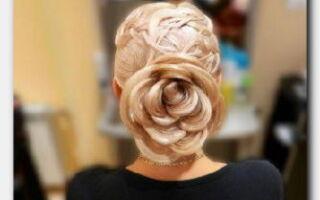 Статья. Создаем цветок из волос