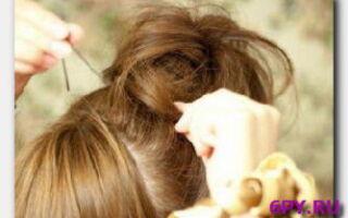 Статья. Небрежный пучок из волос – просто и доступно