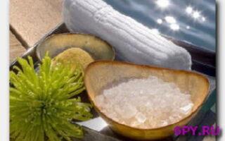 Морская соль-лечебное и косметическое средство