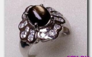 Камень королей-черный сапфир