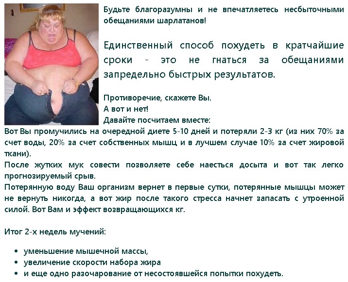 Самый быстрый способ похудеть без диет